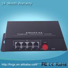 Voix FXO / FXS pots multiplexeur de fibre fxs passerelle Téléphonie Fibre Optique Multiplexeur voip téléphone adaptateur