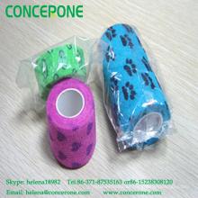 Vendaje elástico autoadherente impreso impermeable, vendaje adhesivo del diseño del modelo de la impresión