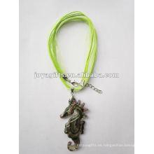 Venta al por mayor pendiente de cristal de 2014 Lampwork Collar pendiente de cristal del vidrio de Lampwork del collar con la cuerda de la cera