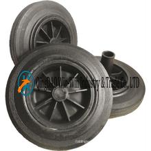 8X1.75 Flat Free Rubber Wheel for Dustbin