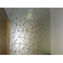Frosted Polishing Sand Blasting Low Iron Tempered Acid Etched Glass for Interior Partition and Home Deco