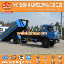 DONGFENG 4X2 10cubic hook lift garbage truck 190hp hot sale with high performance in China