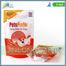 Stand up Dog Food Packaging Sacs Withzipper