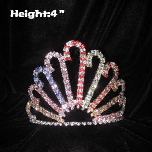 Coronas de concurso de bastones de caramelo de color Mulit de 4 pulgadas de altura