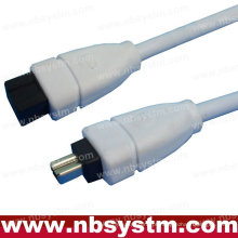 6FT FIREWIRE CABLE 6 PARA 4 PIN IEEE 1394 iLINK PC MAC
