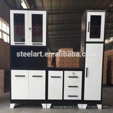 Nouveau meuble de base d'évier de cuisine en métal de conception avec la structure de KD