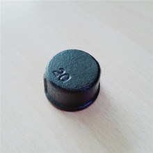 1/2 Inch Black Malleable Iron Cap