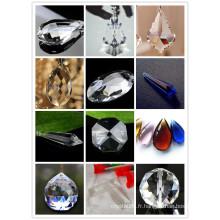 Lustre de décoration fait main coloré Lustre de lampe en cristal