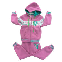 Winter Fleece Kids Girl Sport Suit in Children ′s Wear Swg-137