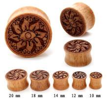 Orgânica Madeira Orelha Flesh Ear Plug calibres Body jóias Ear Piercing Hot Ear Plus Túneis Calibres Wood Ear Plug