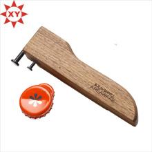 Abridor de garrafas de madeira Material Bulk com logotipo (XY-mxl91705)