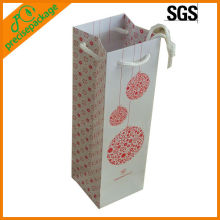 customized 1 bottle wine art paper hold bag