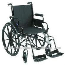 Nouvelle fauteuil roulant de luxe avec roues en plastique de mag