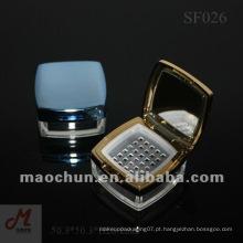 SF026 Frasco de pó solto quadrado com peneira