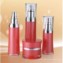Botella de aire acrílico cosmético de cintura redonda sin aire