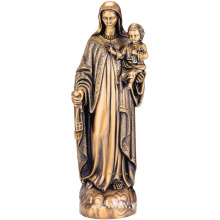 Bronze Virgin Mary with Baby Jesus Statue for Sale