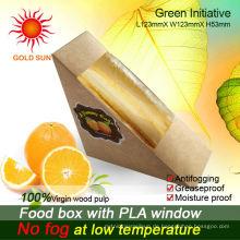 Großhandelsqualitätswegwerf Kraft-Sandwichkästen, Sandwich-Keile in China