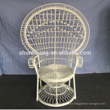 white color princess peacock chairs natural color rattan wicker chairs