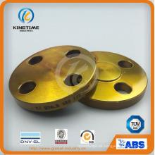 Brida ciega de acero de carbono con reborde ciego forjado con Ce (KT0410)