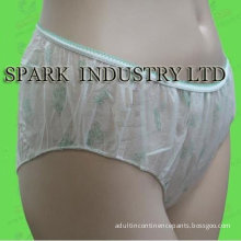 Oem Adult Disposable Incontinence Pants With Soft Lace Side, Non-woven Fabric