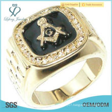 Gold Plated Masonic Mason Logo Men's Ring