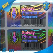Anti-falso original original basball cap custom hologram etiqueta adesivo