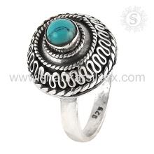 Лучшие продажи skyey бирюзовый драгоценный камень кольца ювелирные изделия стерлингового серебра 925 кольцо консигнант ювелирных изделий