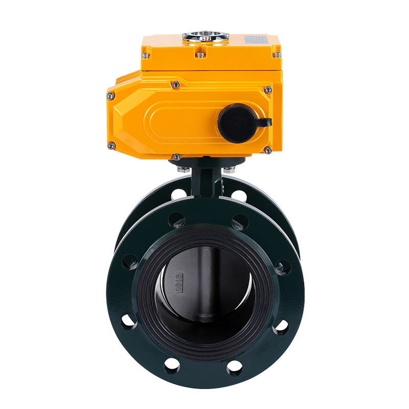 Stainless steel Electric head flange Butterfly valve