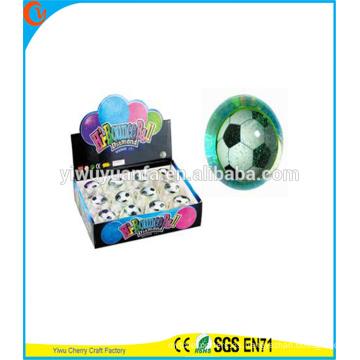 Juguete del niño de la novedad del diseño LED que destella la bola del destello del agua del light-up del balompié