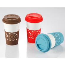 Heat Resistent Silicone Cup Sleeve for Coffee Cup