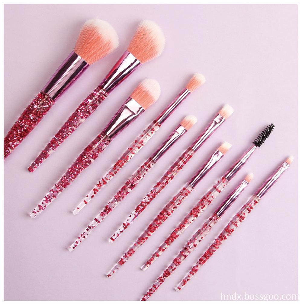 Crystal Rhinestone Makeup Brushes Set 6