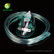 Máscara de oxígeno médico con tubo de suministro de 7 pies