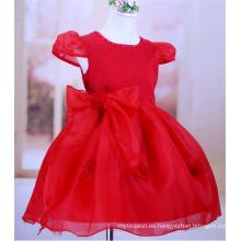 vestido de niña de flor de lujo vestido de princesa vestido de tutú de navidad de flor rosa