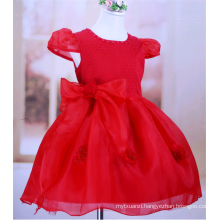 child upscale flower girl dress princess dress rose flower christmas tutu dress