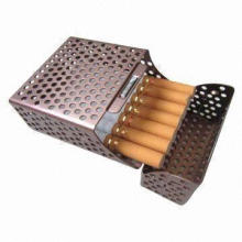 Smart and Attractive Portable Stainless Cigarette Case/Holder/Box, Designed in Square Hole Shape