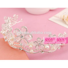 diamond crystal large flower pearl pageant tiara