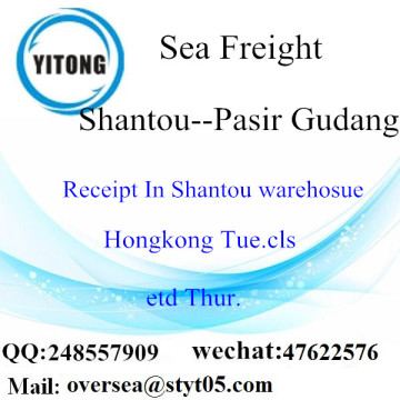 Shantou Port LCL Consolidation To Pasir Gudang