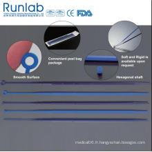 Aiguilles et boucles d'inoculation en plastique