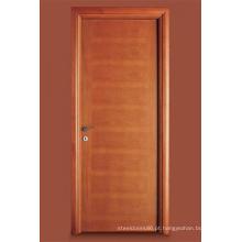 Porta interior folheada folheada carvalho pintada, porta do quarto