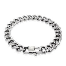 Stainless Steel Jewelry Men Chain Bracelets Silver Black Anti-Allergy