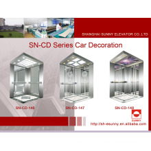 Cabine do elevador com painel lateral de aço inoxidável (SN-CD-146)