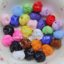 High Quality for Rose Flower Beads Back Hole Chunky Opaque Acrylic Rose Flower Loose Beads export to Ukraine Supplier