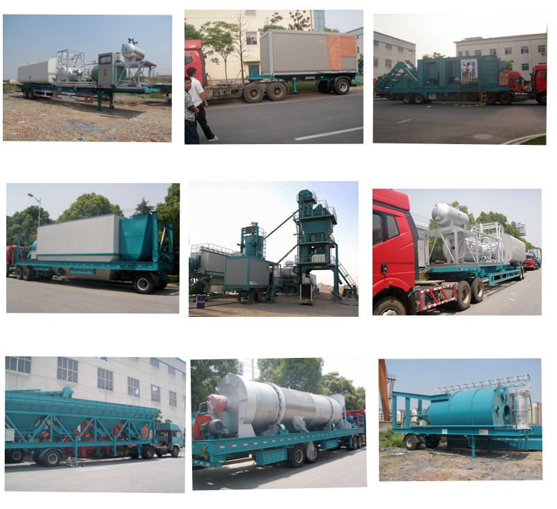 Pakage mobile asphalt plant