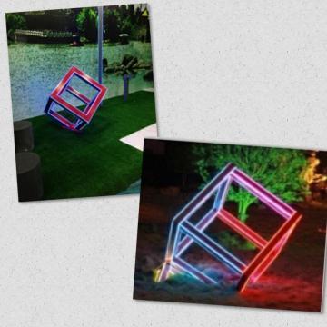 Lámpara de jardín cubo de Rubik