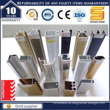 Diferentes Tratamiento de Superficies Perfil de Aluminio para Ventana y Puerta