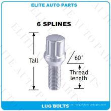 6 pernos de espiga ranurados para rueda de coche