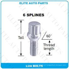 6 Spline Lug Bolts para roda de carro