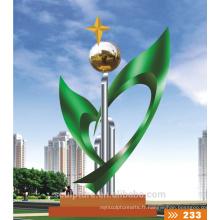 2016 Nouvelle statue en acier inoxydable 304 Statue urbaine de haute qualité Sports Sculpture en métal Sculpture paysage coloré