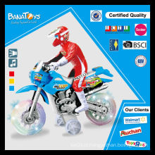 Crianças brinquedo com brinquedo de roda transparente brinquedo motocicleta stunt