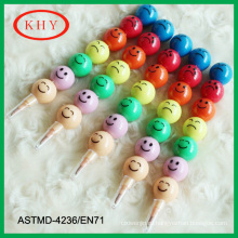 2014 hot selling colorful multistage smile face crayon